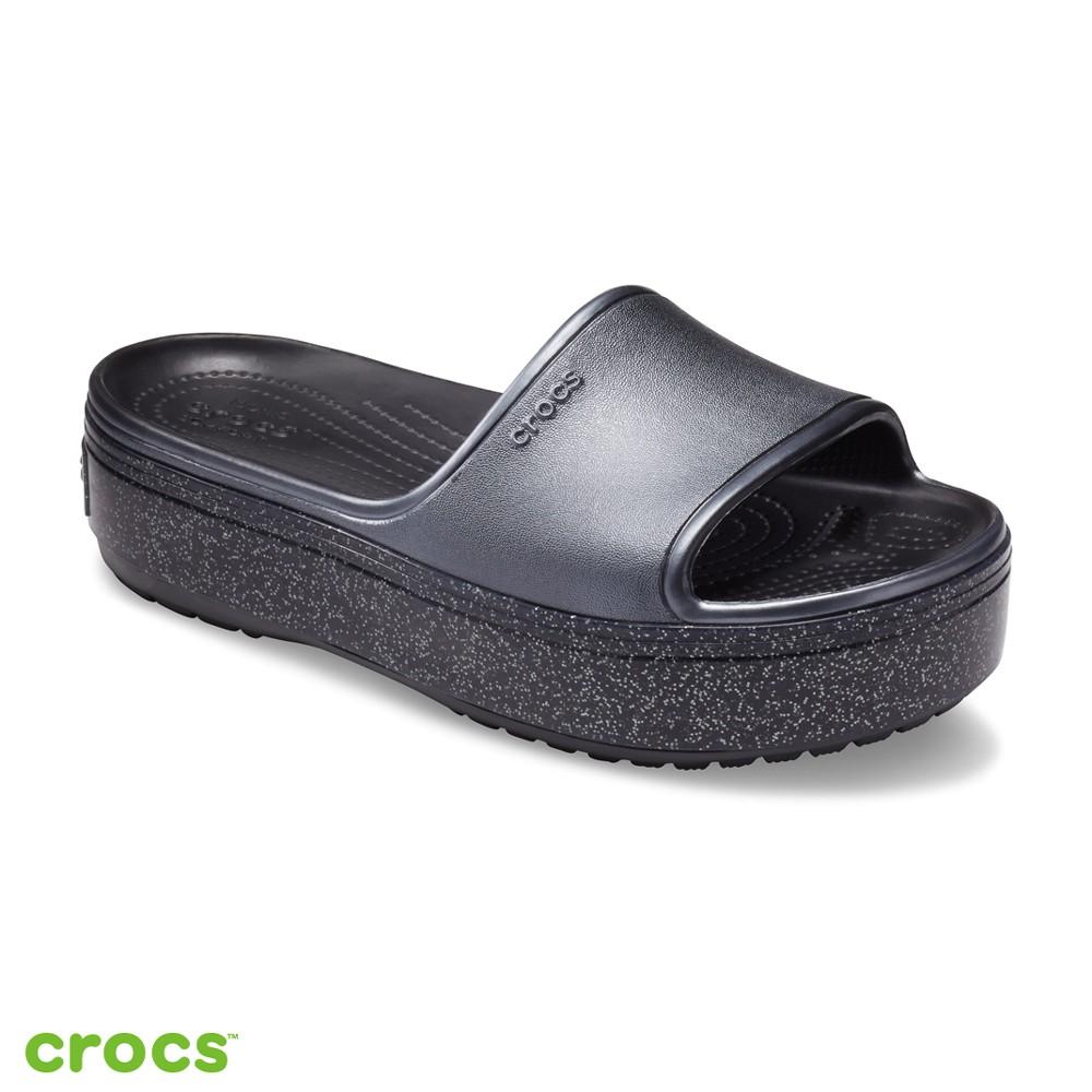 Crocs 卡駱馳 (中性鞋) 厚底卡駱班金屬涼拖-205913-002