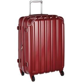 [シフレ] ハードジッパースーツケース 中型 Mサイズ 1年保証付き 拡張式 保証付 63L 55 cm 3.9kg メタリックレッド