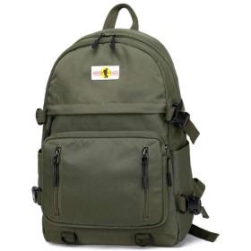 misognare 通学 リュック USB充電ポート 旅行バッグ ベース バックパック 男女兼用 14インチに適合 (グリーン)
