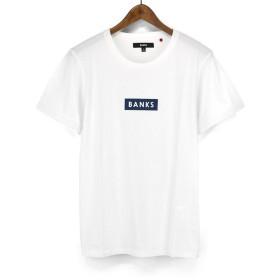 バンクス(BANKS)Tシャツ ATS0178 FORUM TEESHIRT シンプル ロゴプリントtee ボックスロゴ S/STEE 半袖 (L, OFF WHITE)