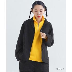 メルロー ミックステーラードジャケット1776 レディース ブラック FREE 【merlot】