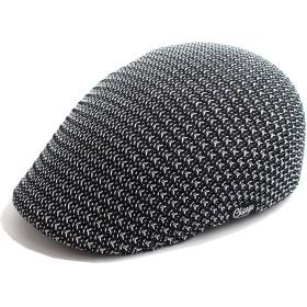 QUINTETTO ミックスカラー メッシュ ハンチング メンズ キャップ ハット 熱中症 対策 春 夏 用 cs5-003 (ブラック/ホワイト)