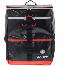 ビバハート (VIVA HEART) リュック バックパック リュックサック スクエア型 合皮素材 配色デザイン 013-86835 (F(50), ブラック(019))