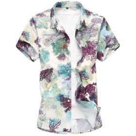 CEEN アロハシャツ メンズ 半袖シャツ ハワイ 半袖 シャツ カットソー 花柄 カジュアル キレイめ 男性用シャツ