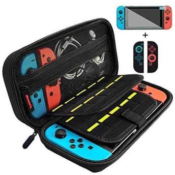 Nintendo Switch ケース 任天堂スイッチ ニンテンドースイッチ 保護フィルムとJoy-Con専用カバー付き[NS0001VM](Black Nintendo Switch)