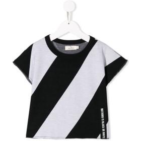 Andorine ストライプ Tシャツ - ブラック