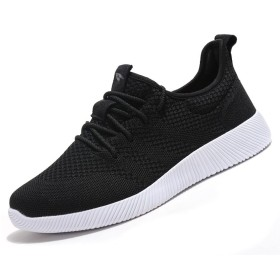 [BO MEI QI] ランニング シューズ 運動 靴 ジョギング シューズ スポーツ スニーカー レディース (26CM, 黒い)