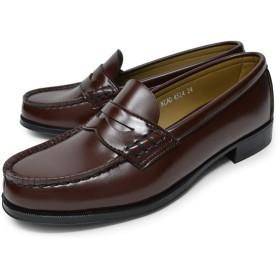 [ハルタ] ローファー 学生靴 4514 レディース ブラウン 23.5cm