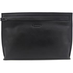 (ロトプ) LOTUFF レザーメンズクラッチバッグ シンプルバッグ デイパックユニセックス LO-1127 男女性用 (Lotuff Simple Leather Clutch Unisex) ブラック [並行輸入品]