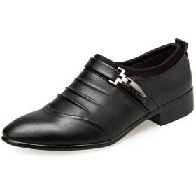 [NEOKER] ビジネスシューズ 紳士靴 メンズ レザーシューズ モンクストラップ ストレートチップ レザーシューズ エナメル 革靴 柔らかい 歩きやすい 消臭 快適 カジュアルシューズ 男性用 通勤 冠婚葬祭 ブラック28.5CM BK47