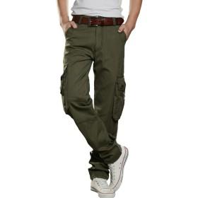 (アイノウ)AINOR カーゴパンツ メンズ ミリタリー 作業着パンツ ワークパンツ スキニー 作業ズボン 7ポケット 多機能 大きいサイズ ゆったり ロングパンツ ストリート 春夏用 動きやすい 3色