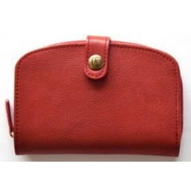 [CL2406] CLEDRAN(クレドラン) MIEL WALLET/ラウンドレザーウォレット/二つ折り財布 サイズ FREE RED(1935)