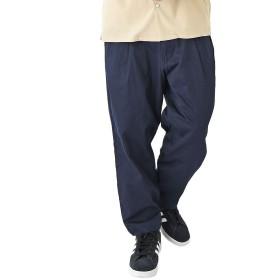 ネイビー XL (ベストマート)BestMart ゆったり ワイドパンツ メンズ 9分丈 ツイル アンクル きれいめ 薄手 厚手 モード バギー 太め 太い スカンツ ガウチョ 韓国 ズボン ボトムス ダンス クロップド パンツ 624788-007-601