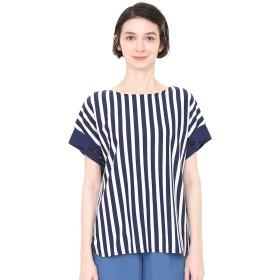 (グラニフ) graniph 刺繍 カフス Tシャツ (ザ ペンギン ラブズ フィッシュ) (ダークブルー) レディース Lady(F) (g14)