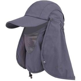 (FUPUSUN) 日よけ帽子 360度 UVカット 折りたたみ キャップ 日焼け防止 紫外線対策 (ダークグレー)