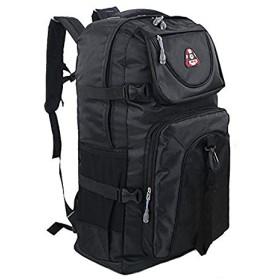 バックパック アウトドア 登山 60L 大容量 軽量 通学 旅行 防災 レディース メンズ (ブラック)