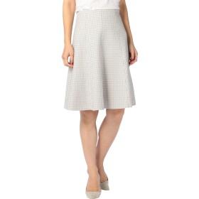 (ノーリーズ) NOLLEY'S チドリジャージーフレアスカート 7-0035-6-06-001 38 ホワイト系4