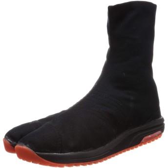 [マルゴ] 地下足袋、エアークッション エアージョグV(ファイブ) 6枚 黒 30 cm 2E