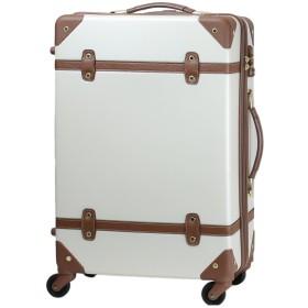 MOIERG(モアエルグ) キャリーバッグ YKK使用 軽量 かわいい スーツケース 大型 (L, オフホワイト)【81-80003-21】修学旅行