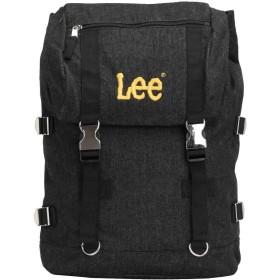 [リー]Lee リュック リュックサック デイパック デニム バックル フラップ メンズ レディース 0420906 lee-005 (ブラック/イエロー)