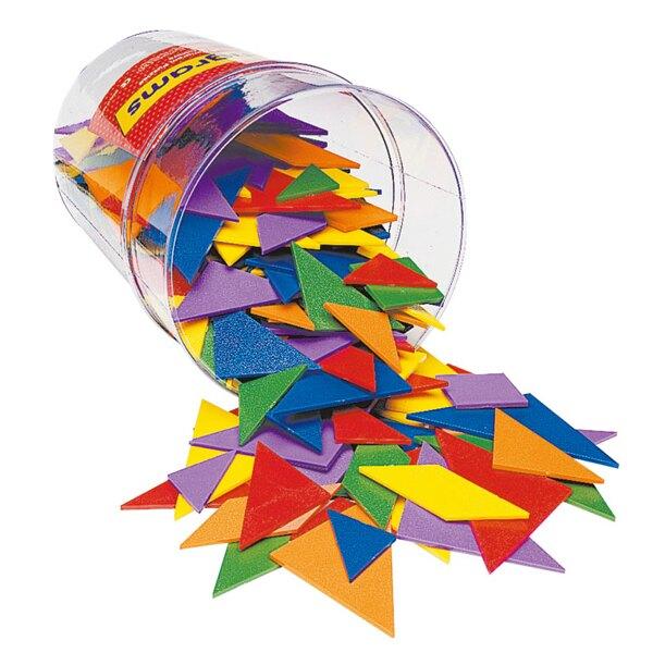【華森葳兒童教玩具】數學教具系列-6形6色形狀片 N1-0416-6