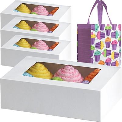 《Wilton》6格馬芬蛋糕紙盒4入+提袋