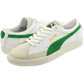 [プーマ] BASKET 90680 WHITE/AMAZON GREEN 23.5cm