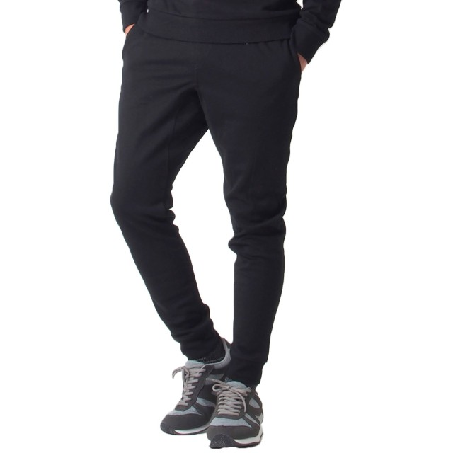 [トップイズム] スウェット パンツ メンズ ジョガーパンツ イージーパンツ ストレッチ 無地 2-ブラックラインなし Lサイズ
