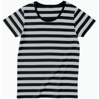 [トラス] Tシャツ SBT-126 レディース ヘザーグレー×ブラック 日本 XS-(日本サイズXS相当)