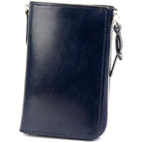 [コルボ] CORBO. -face Bridle Leather- フェイス ブライドルレザー シリーズ L字小銭入れ付き二つ折り財布 1LD-0225 ネイビー CO-1LD-0225-73
