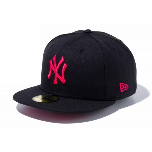 【メーカー取次】 NEW ERA 59FIFTY UNDERVISOR ニューヨーク・ヤンキース ブラック×ストロベリー11308538 キャップ (ブラック×ストロベリー 表記7 5/8)