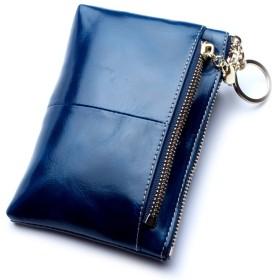 小銭入れ コインケース 財布 カードケース カード入れ レディース 本革レザー ブルー