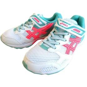 [アシックス] TKB208 LAZERBEAM ジュニアシューズ ランニングシューズ レーザービーム マラソン トレーニング (23.5cm, ホワイト/ホットレッド(0106))