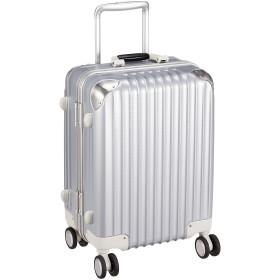 [カーゴ] スーツケース フレーム TW51 消音/静音キャスター 機内持ち込み可 保証付 34L 53 cm 3.7kg シルバーカーボン