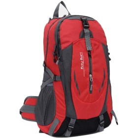 [ジンニュウ] 登山リュック リュックサック 旅行リュック 登山用バッグ 40L 大容量 防水 多機能バックパック スポーツリュックサック 通気性 軽量 ユニセックス 男女兼用 レッド F