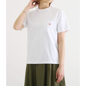 DANTON/ダントン:PocketTee -WHT- (14/-空紡天竺):ダントン Tシャツ てんじく レディース:34 ホワイト