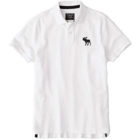 アバクロ 正規 ポロシャツ ビッグムース メンズ アバクロンビー&フィッチ 半袖 Abercrombie&Fitch (XL, WHITE)