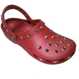 [株式会社マックストラスト] クロックス ネオパンク カスタム クラシック 赤 ペッパー crocs custom classic clog クロッグ サンダル (25cm(m7/w9), 赤x銀)