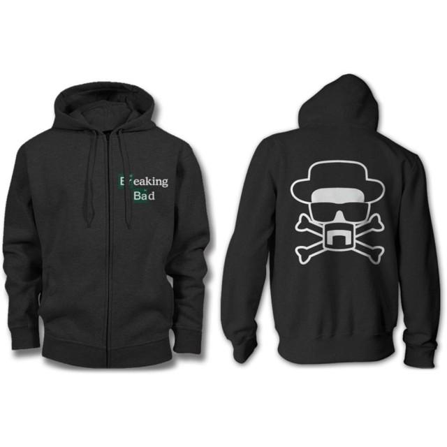 ブレイキング・バッド ロゴ メンズ ジップアップ ブラック パーカー スウェットシャツ | S