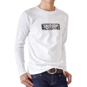 (アローナ)ARONA Tシャツ カットソー アメカジ カレッジ ロングTシャツ メンズ 長袖 /M1.5/ B1ホワイト M