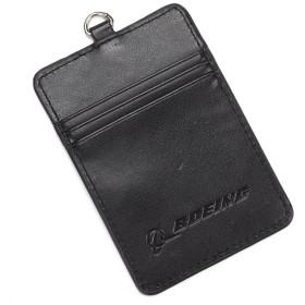 (ボーイング) BOEING 【PU Leather Card Holder】 ボーイング レザー パスケース (定期入れ カードケース カードホルダー ICカード IDカード 免許証 クレジットカード 名刺 ネックストラップ)