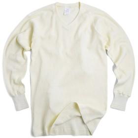 HOUSTON 21064 4/5 SLEEVE サーマル Vネック パックTシャツ (XL, OFF WHITE)