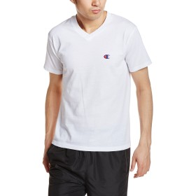 [チャンピオン] VネックTシャツ CM1HH202 メンズ ホワイト 日本 L (日本サイズL相当)