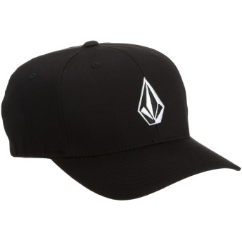 [ボルコム] [ユニセックス] 定番 スナップバック キャップ (FLEX FITコラボ)[ D5511105 / Full Stone Xfit Hat ] 帽子 おしゃれ BLK_ブラック US L/XL (日本サイズM-L相当)