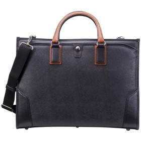 [豊岡鞄] ビジネスバッグ craftsmanship(クラフトマンシップ) サフィアーノ2ルーム B4ファイル収容 メンズ ブラック