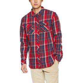 (クリフメイヤー) KRIFF MAYER ヘビーネルチェックシャツ ネルシャツ 長袖シャツ L レッド