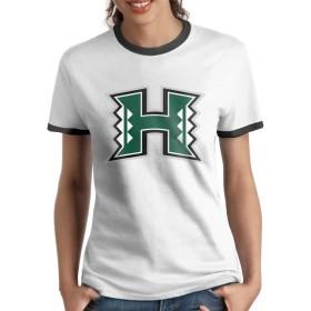 ハワイ大学マノア校 ロゴ Tシャツ ラグラン 女の子 半袖 丸首 吸汗速乾 シンプル サラリーマン スポーツ 四季 ファション