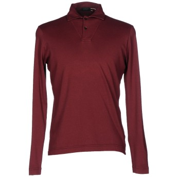 《セール開催中》ZANONE メンズ ポロシャツ ボルドー 54 コットン 100%
