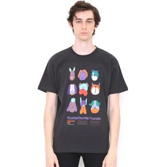 (グラニフ) graniph Tシャツ ブサイク ドッグ (スミクロ) メンズ レディース L (g01) (g14)