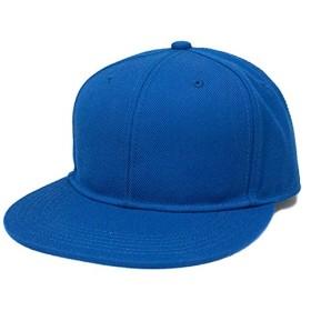 無地 ベースボール キャップ 青 ロイヤルブルー スナップバック 帽子 オリジナル 別注 刺繍 対応 56-59cm フリー BB